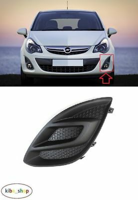 Vauxhall Opel Corsa 2011 - 2014 Front Bumper Fog Light Cover Grill Left N/s