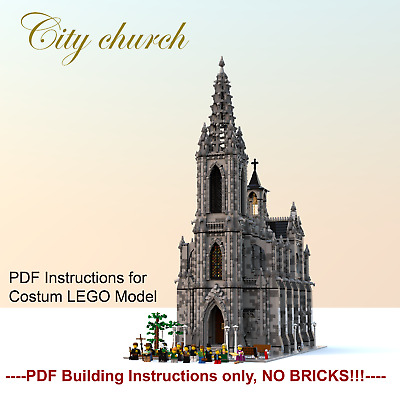 MOC Church- costum modular LEGO building Instructions- PDF files only!