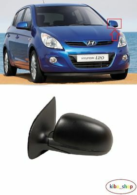 Hyundai I20 2008 - 2014 Wing Mirror Electric Heated 5Pin Left N/s Black