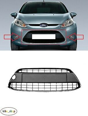 Ford Fiesta 2008-2012 Mk7 Front Bumper Lower Center Grille Black Chrome Frame