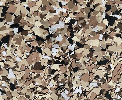 Colored Flakes/chips For Epoxy Floors Saddle Tan  Mix 50 Lb Case