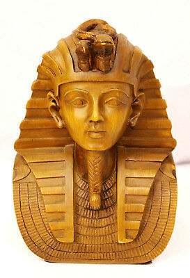 Authentic Egyptian King Tut Statue Bust Figurine Tutankhamun Ancient Egypt Gift