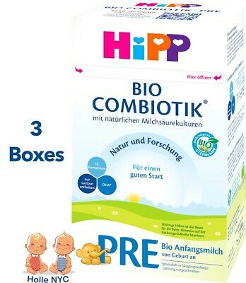 HiPP Stage Pre Bio Combiotic Infant Formula 3 Boxes 600g Free Shipping