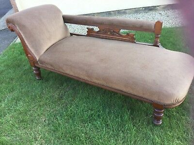 Edwardian Chaise Longue And Two Matching Chairs