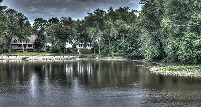 Digital Picture Image Photo Wallpaper JPG HDR house by the lake Desktop