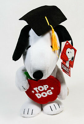 "Peanuts Snoopy ""Top Dog"" Plush Musical Graduation Gift ""Pomp & Circumstance"""