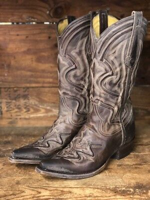 743c6709c93 CORRAL MEN'S DISTRESSED Brown Vintage Cowhide Square Toe Boots A3303 ...