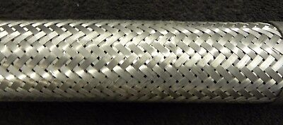 "Flexible SS Hydraulic Hose Assem 2-1/2 Hose 2"" Pipe x 17-1/4"" long. Lot of 1."