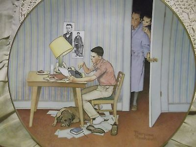 The Student Norman Rockwell Museum 1981 American Family series collector plate