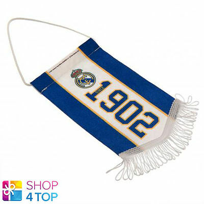 Real Madrid Mini Pennant Hanging Car Room 1902 Official Football Soccer Club New