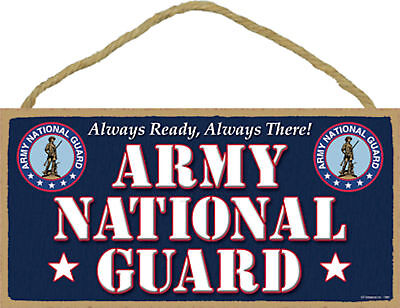 Army National Guard Always Ready Always There Military Wood Sign Plaque USA Made