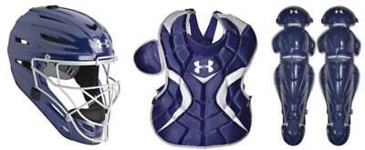 Under Armour Intermediate 13-16 Victory Series Catcher's Gear Set - Navy