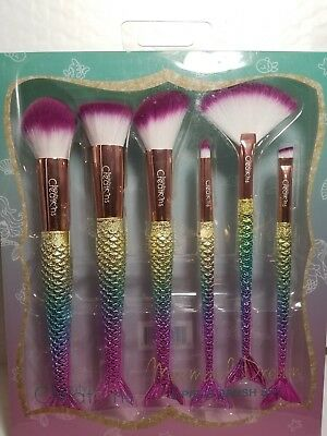 Mermaid Dream 6 Piece Brush Set Beauty Creations  Item 6Ub6 100 % Original