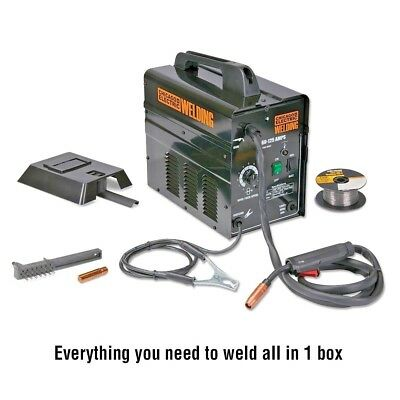 Gasless Flux 125 amps Welder Portable Lightweight Free Shipping!!! ALL INCLUDED