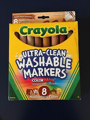 crayola ultra clean washable markers colormax multicultural colors 8
