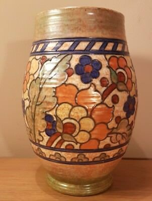 "9"" CHARLOTTE RHEAD SIGNED ~ Crown Ducal Pottery~Art Deco Vase ~Byzantine Pattern"