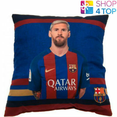 Fc Barcelona Messi Cushion Square Pillow Football Soccer Club Team New Gift New