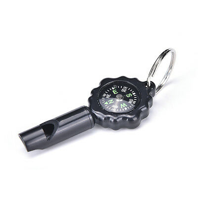 Black Mini Survival Tool Whistle Compass 2 in1 nuovo caldo di vendita 2018 CH