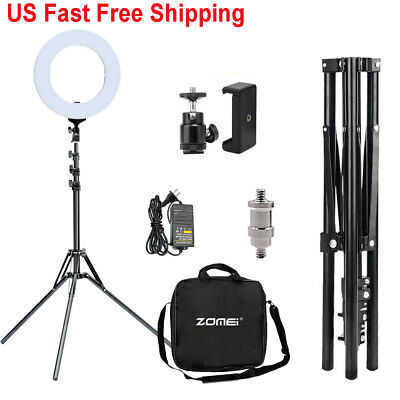 "14"" Dimmable LED Ring Light Photo/Video Studio Photography Selfie Stand Kit US"