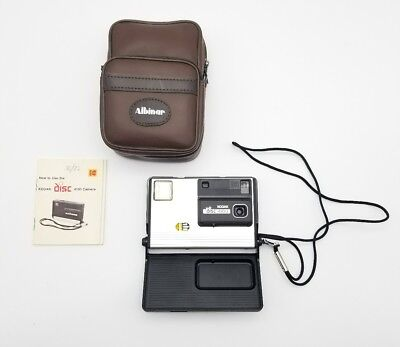 Vintage Kodak Disc 4100 Camera with Case Strap Instructions Excellent Condition