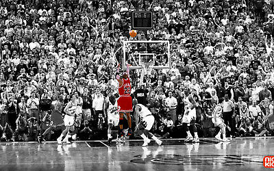 Michael Jordan - the Last Shot Basketball legend art wall poster silk 91x61 cm