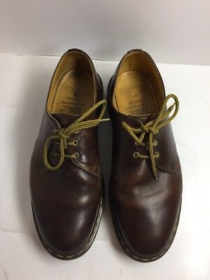 The Original DR. MARTENS Made In England Men's Brown Oxford 3 Eye-Lace Up Size-8