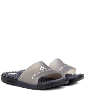 a12af8a4e95bc Adidas Stella Mccartney Adissage Sandals Dark Gray Massage Rubber Slides 5  New