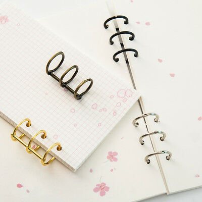 2pcs Metal Loose Leaf Book Binder Hinged Rings Album Clips Calendar Circle New