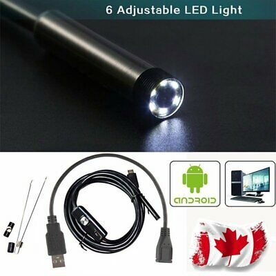 6 LED Endoscope Waterproof Snake Borescope USB Inspection Camera  for Andorid CA