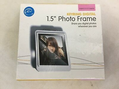 """Digital Photo Keyring 1.5"""" - Black - New in Box - With Software and USB Cable"""