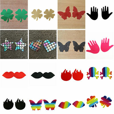 1Pair Cute Self Adhesive Disposable Sticker Pads Pasties Breast Nipple Cover