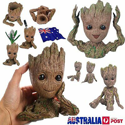 6/16 CM Guardians of The Galaxy Baby Groot Figure Flowerpot Pen Pot Toy Gifts PO