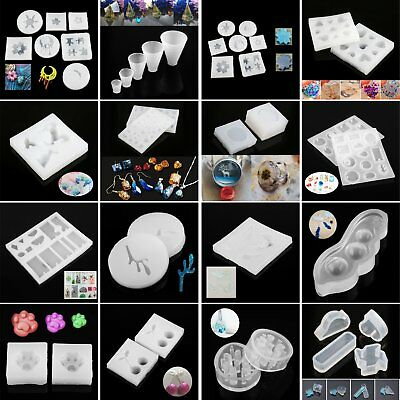 1Pc DIY Silicone Mold Making Jewelry Pendant Resin Casting Mould Hand Craft Tool