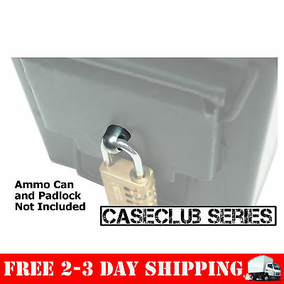 Locking Hardware Ammo Box Case Ammunition Can Fits 50 Cal 30 Cal 20 mm 40 mm New