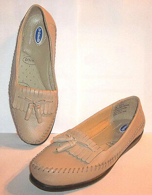 eab9eadb7bd DR SCHOLLS Beige Leather Moccasin Tassel Loafers Air Pillo Insoles Size 7 M