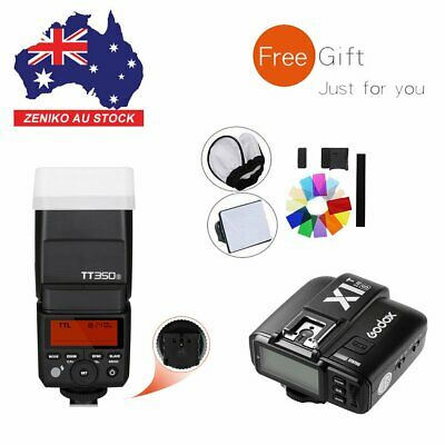 AU Godox Mini TT350S 2.4G TTL HSS Flash Speedlite+X1T-S Trigger For Sony Camera