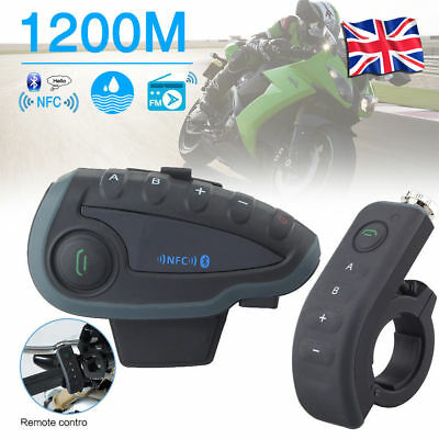 1200M V8 Bluetooth Motorcycle Helmet Interphone Intercom Headset Remote 5 Riders