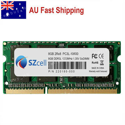 AU 8GB 16GB PC3-10600 DDR3 1333MHz Memory for MacBook Pro 2011 A1286 A1278 A1297