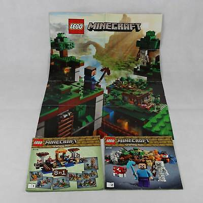 Lego 21116 Minecraft Instructions And Poster Only Eur 777