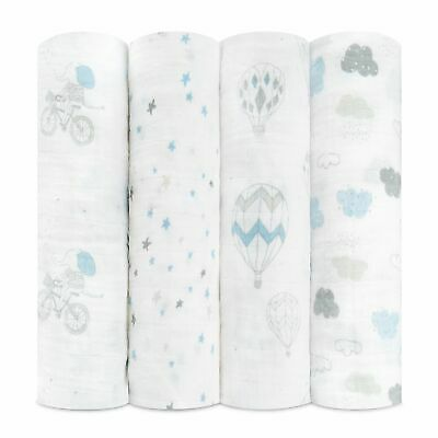 aden and anais soft muslin large baby swaddles 4-pack: night sky reverie