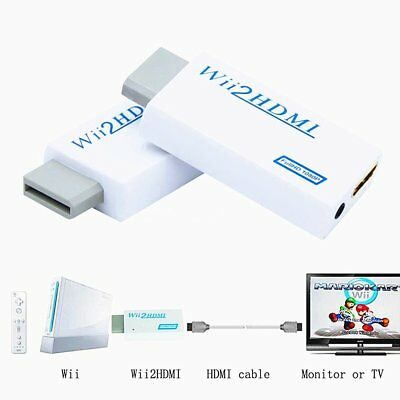 Wii Input to HDMI 1080P HD Audio Output Converter Adapter Cable 3.5mm Jack Lead