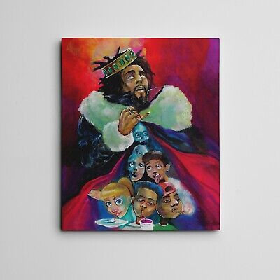 "16x20""  GALLERY ART CANVAS J.COLE KOD ALBUM COVER RAP RECORDING STUDIO ARTWORK"