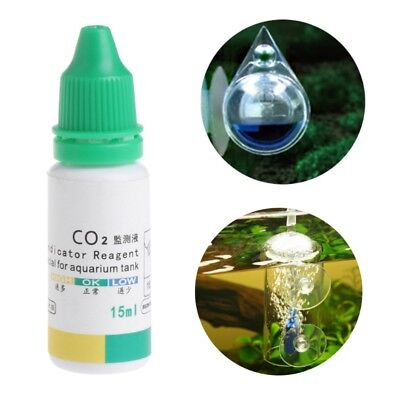 Aquarium CO2 Indicator Solution Fish Tank Liquid Test Plants Long Term 15ml