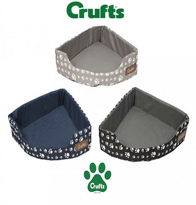 Crufts Corner Bed Pet Dog Cat Kitten Puppy Warm Bed Cushion Filling Home Travel