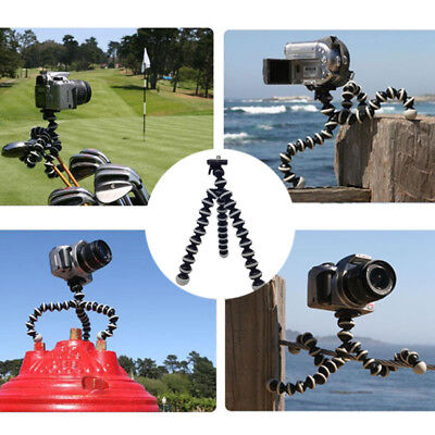 Portable Travel Hiking Flexible Octopus Stand Tripod Gorilla Pod for Camera UK