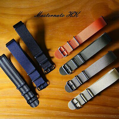 Double Thick Nylon G10 Watch Nato Strap Band Heavy Duty Brushed PVD buckle