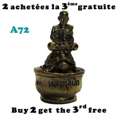 Tortue laiton avec moine / Brass turtle with monk