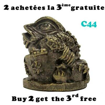 Grenouille crapaud Feng Shui en laiton / Brass Feng Shui frog toad