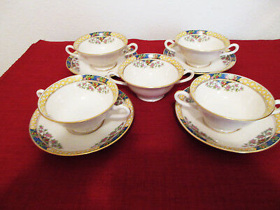 Lenox THE ORCHARD Cream Soup Bowls with Underplates Set of Four plus