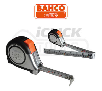 Bahco MTS825E 8m/26ft cm/inch Stainless Steel Blade With Magnet Tip Tape Measure